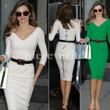 Women Celebrity Slimming Bodycon Business Party Cocktail Pencil Dress 1E683