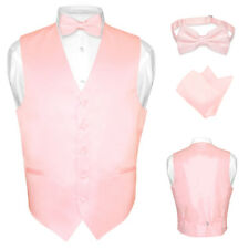 Men's Dress Vest BOWTie PINK Color Bow Tie Set for Suit or Tuxedo