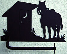 HORSE OUTHOUSE TOILET PAPER TISSUE HOLDER RUSTIC LODGE COWBOY WESTERN BATH DECOR