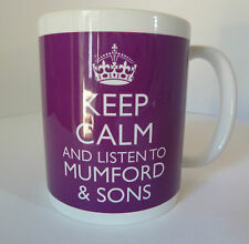 KEEP CALM AND LISTEN TO MUMFORD & SONS  MUG CARRY ON RETRO GIFT CUP