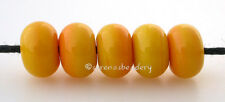 SQUASH YELLOW MINI * Lampwork Glass Spacer Beads TANERES sra