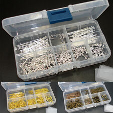 Findings Set Jewellery Making Starter Kit and Storage Box - Bronze Silver Gold
