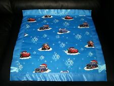 DISNEY CARS in SNOW for Christmas Personalized Cotton & Fleece Blanket