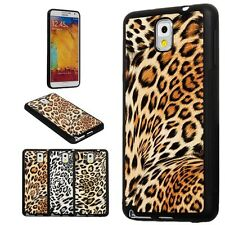 Samsung Galaxy Note 3 III Leopard Print Faux Leather TPU Protective Cover Case