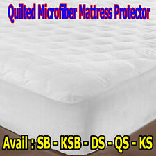 Fitted & Quilted Microfibre Mattress Protector  – SINGLE KS DOUBLE QUEEN KING