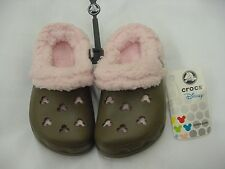 NWT CROCS MAMMOTH KIDS MICKEY CHOCOLATE/COTTON CANDY C 6/7 8/9 LINED