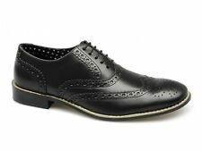 London Brogues GATSBY Mens Soft Leather Lace-Up Smart Evening Formal Shoes Black