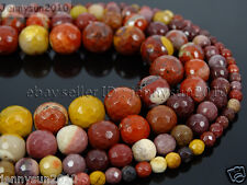 Natural Moukaite Jasper Gemstone Faceted Round Beads 15'' 4mm 6mm 8mm 10mm 12mm