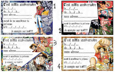 CARTE INVITATION ANNIVERSAIRE ONE PIECE