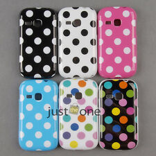 Hot Cute Polka Dots TPU Fitted Skin Case Cover f. Samsung Galaxy Young S6310 New