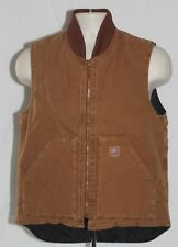 Carhartt Work Vest Sandstone Duck Insulated Mens V02 2nds New NWT