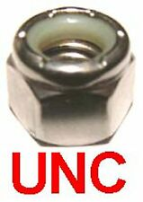 3/8 UNC Stainless Steel Nyloc Nuts - 3/8-16 Nylon Insert Nylock Nuts Stainless