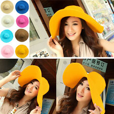 2013 Fashion Women Floppy Derby Hat Wide Large Brim Summer Beach Straw Sun Hat