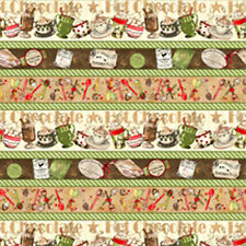 Wilmington Prints Hot Chocolate Quilt Fabric Fat Quarter