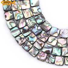 """Wholesale Natural Genuine Square Abalone Shell Beads For Jewelry Making 15"""""""