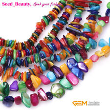 Jewelry making freeform beautiful mixed-color sea shell MOP chips gemstone beads