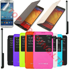 SAMSUNG GALAXY NOTE 3 III N9000 N9005 FLIP S-VIEW PU LEATHER CASE BATTERY COVER
