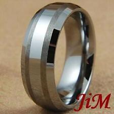 Mens Tungsten Ring Wedding Band Rings Bridal Jewelry Titanium Color Size 6-15