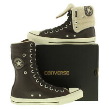 Converse  Allstar Knee Hi Top Womens Leather Lace-up Shearling Boot UK 4 - 8