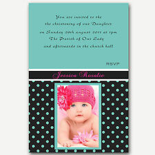 Photo Christening Invitations -Baptism naming Ceremony - Jessica Handmade By me