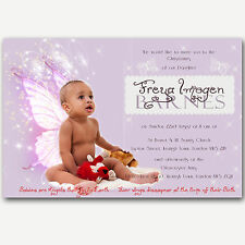 Gorgeous Photo Christening Invitations Matilda - Baby Girl Handmade By me
