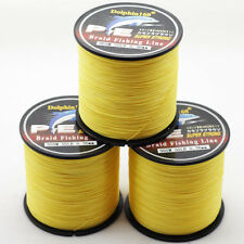 PE Dyneema Braided Fishing Line Power Braid 6lb-100lb 300m 328Yd Spectra Yellow