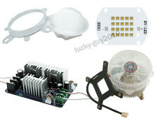 100W Cree XPG2 XP-G2 White/Warm White LED Light + Driver + Heat Sink + Lens Kits