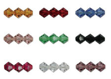 Pack of 30 Czech Preciosa glass Crystal Bicone Beads 4mm - choice of colours