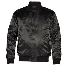 Starter Detroit Lions Satin Varsity Midweight Button-Up Jacket - Black