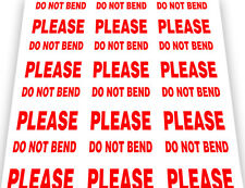 PLEASE DO NOT BEND Labels Stickers Postage Multiple Sizes Available