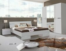 Qmax 'City' Range German Made Bedroom Furniture. White.