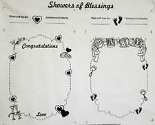 FABRIC PANEL~SHOWERS OF BLESSINGS~BLOCK PARTY STUDIOS~WEDDING/BRIDAL/BABY SHOWER