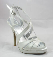 Forever 21 Formal Party Prom Wedding Dress Sandal Shoe Silver Size 6 - 10 NEW