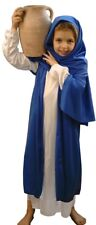 NATIVITY-EASTER-MARY-White & Blue Bible Villager fancy dress costume ALL AGES