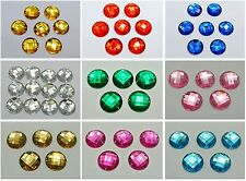 50 Acrylic Flatback Sewing Rhinestone Round Sew on beads 18mm Pick Your Color