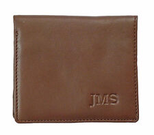 Men's Leather Wallet. Includes One Line of Custom Personalized Imprinting. #113