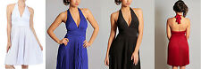 Marilyn Monroe Party Event Sexy Halter Neck Deep V Neck Open Back Dress X-LARGE