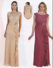 5 COLOR FORMAL OCCASION MOTHER OF BRIDE GROOM DRESS WEDDING EVINING M-5XL+Plus