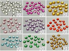 250 Acrylic Round Flatback Rhinestone Gems 8mm NO Hole Pick Your Color