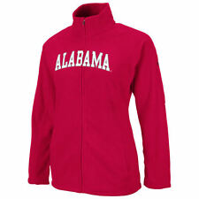 Womens Crimson Snowflake Polar Fleece Full Zip Jacket