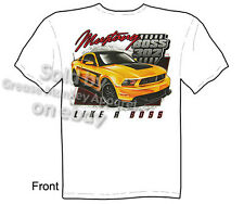 Boss Mustang T Shirt 302 Ford Tee Pony Car Muscle Car Clothing Sz M L XL 2XL 3XL