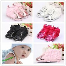 Fashion Non-Slip  Rose Flowers Uppers Newborn Baby Toddler Shoes 4 Color 3 Size