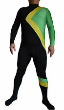 Fancy Dress Party lycra spandex zentai halloween Jamaican Bobsled Team Costume