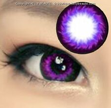 Lentilles de Couleur VIOLET Serie Big Eyes GANGNAM 365j. Filtre Contact UV +Etui