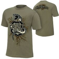 Randy Orton Recoiled Reloaded WWE Authentic Mens Olive Green T-shirt