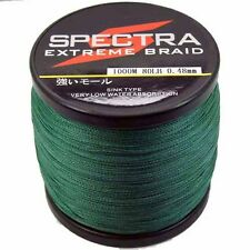 1000M Moss Green Spectra Super Strong Dyneema PE Braided Sea Fishing Line