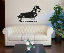 Vinyl Wall Decal Sticker Long Haired Dachshund OS_AA623s 51W x 36H