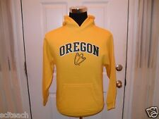 New Youth Embroidered Yellow Oregon Ducks Pullover Long Sleeve Hooded Sweatshirt