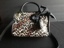 BRAND NEW BETSEY JOHNSON MINI TOASTER PURSE IN CHEETAH PUNK OR TIN CAN