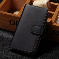 For Apple iPhone 4 4S Geniune Luxury Real Leather Flip Wallet Case Cover Pouch
